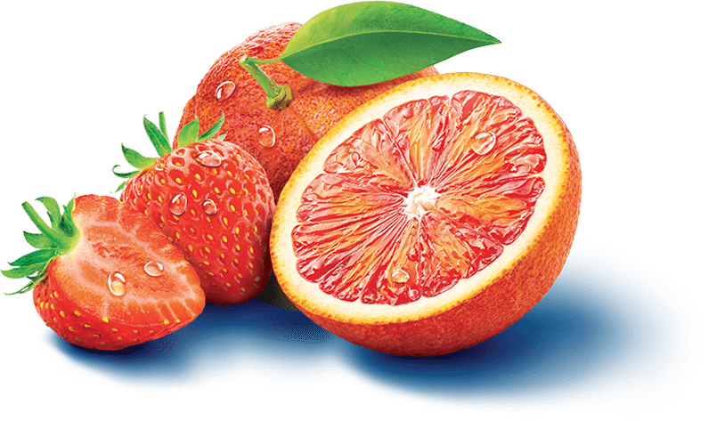 Visuel d'illustration du sirop Oasis Orange  Sanguine Fraise