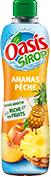 Bouteille de sirop Oasis Ananas Pêche